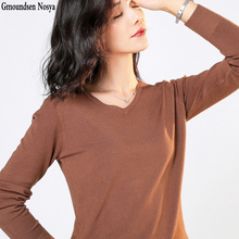 2019 Autumn And Winter new sweater women V-neck pullover women fashion Cashmere sweater Solid color  Plus big knitted sweater цена