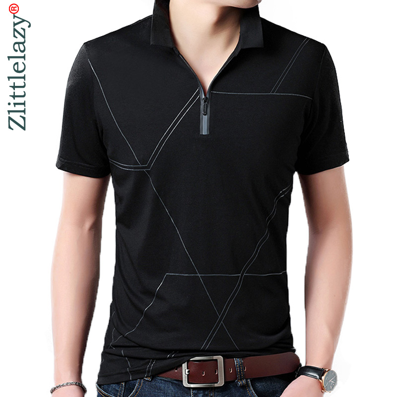 2018 high quality summer   polo   shirt men short sleeve   polos   shirts zipper pocket mens pol clothes dress streetwear poloshirt 8178