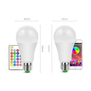 Умная E27 LED RGB RGBW RGBWW волшебная лампа 5 Вт 10 Вт 15 Вт 110 В-220 в Светодиодный прожектор + ИК-пульт или Bluetooth 4,0 управление приложением