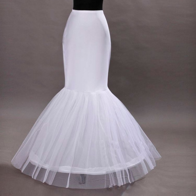 Envío gratis sirena / de la trompeta Prom vestidos enagua de la crinolina imágenes reales de la enagua de la crinolina reciente Fabulous en stock