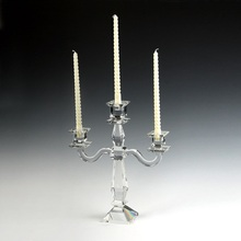 3 arms Europe Style Crystal Candle Holder Stand Glass Candelabra for Wedding Table Centerpieces Decoration
