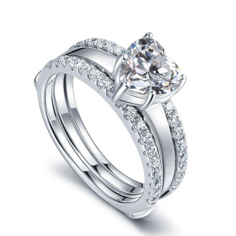Online Get Cheap Heart Shaped Diamond Wedding Rings Aliexpress