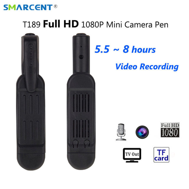 SMARCENT T189 Mini DV Camera HD 1080P 720P Micro Pen Camera Video Voice Recorder Mini Camara Camcorder Digital DVR Secret Camera