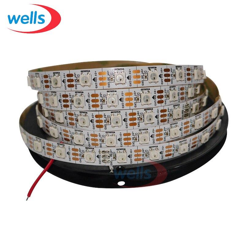 50 м 10X5 м 60 пикс./м индивидуально адресуемых WS2812B WS2811 5050 RGB Светодиодные ленты 5 V белый/черный не обладает водонепроницаемостью: - 2