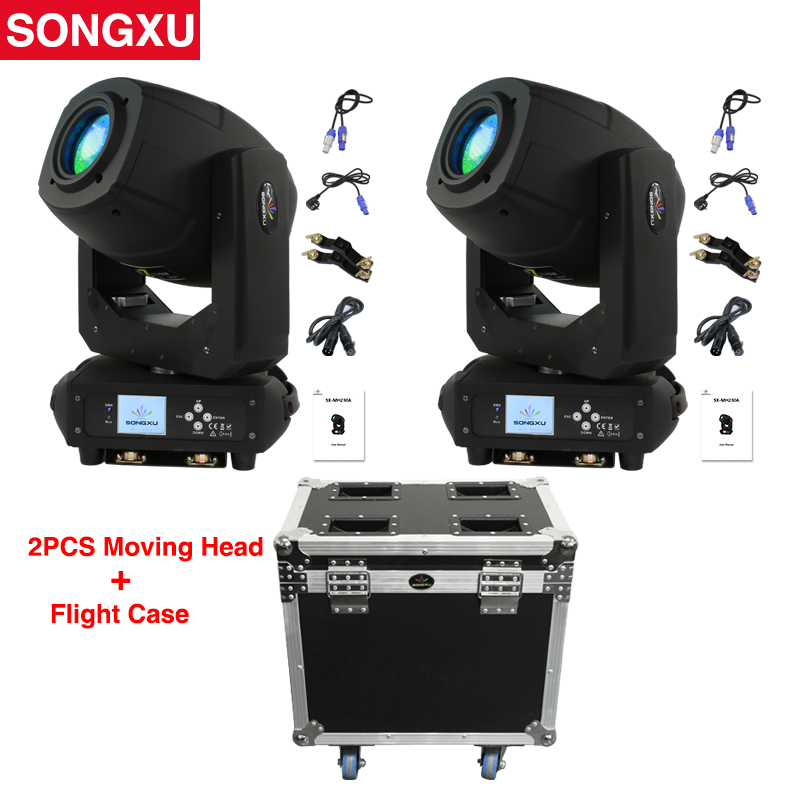 230W LED Lyre Moving Head Light Beam Spot Wash ZOOM 4in1 Light with Flight case package