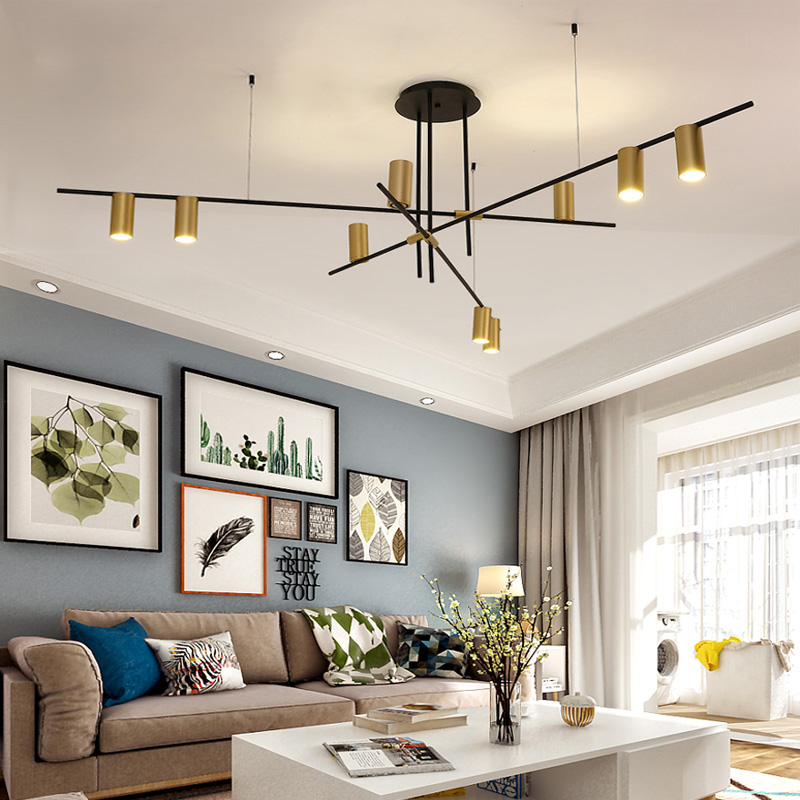 Creative Design LED Chandeliers Lighting Personality Hanging Branch Lamp for Living Room Cafe Bar Bar Studio