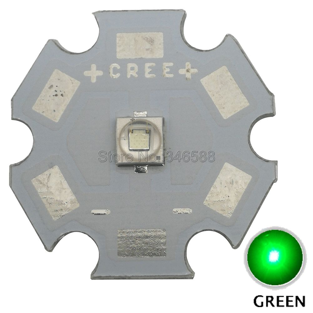 5x <font><b>Cree</b></font> <font><b>3W</b></font> XPE2 XP-E2 Green Color 520nm - 530nm High Power <font><b>LED</b></font> Emitter Diode on 8mm / 10mm / 12mm/ 14mm/ 16mm/ 20mm PCB image