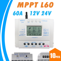 10PCS 60A Solar Battery Charge Controller LCD 12V 24V Auto with USB 5V Solar Regulator High Efficiency Solar Tracking System