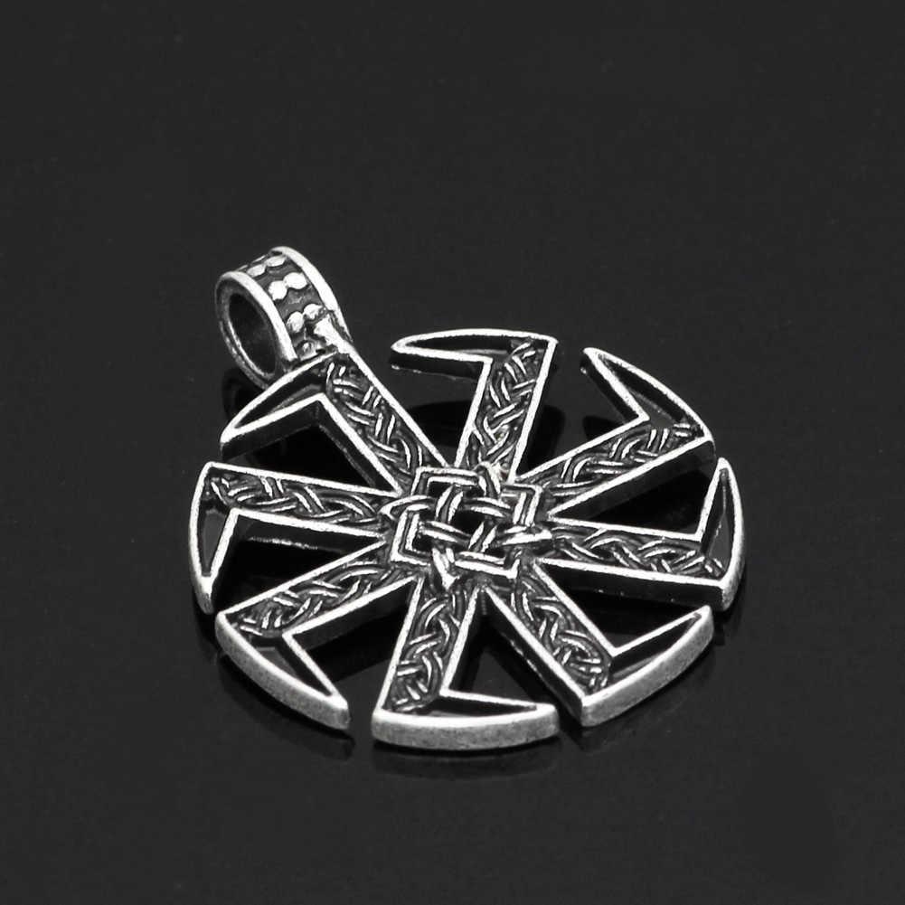Slavic Amulet Pagan Solar Symbol Slavic Wheel Nordic Amulet Men Jewelry