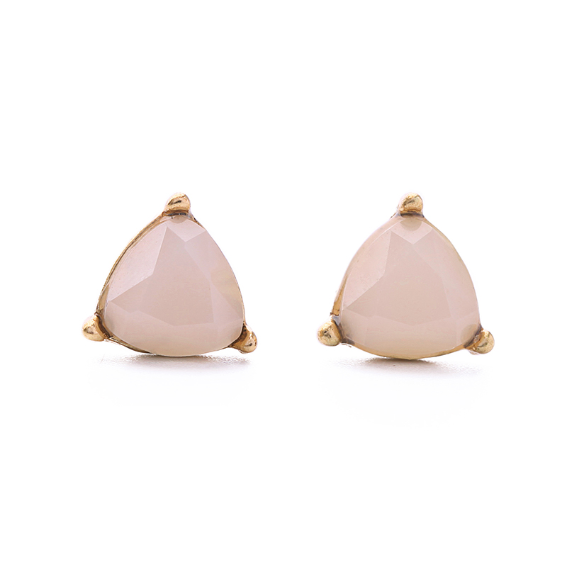 Kiss Me Brand Pink Opal Stud Earrings For Women Fashion Jewelry Charming Party Antique Gold Color In From Accessories On