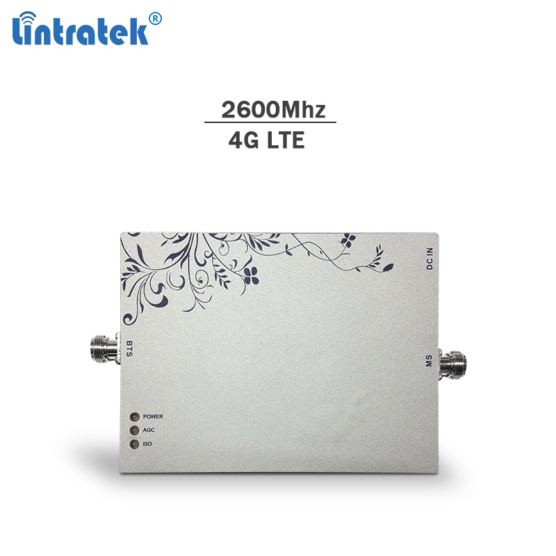 Lintratek signal booster 2600Mhz 75dBi Band 7 cellphone 4g lte signal repeater network booster AGC mobile amplifier only#8
