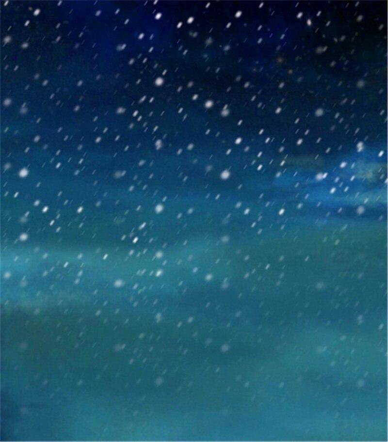 Snow Night Dark Blue Sky Photography Backdrops 200x300cm Digital Printed Photo Studio Background fotomateriaal napapijri guji check dark blue