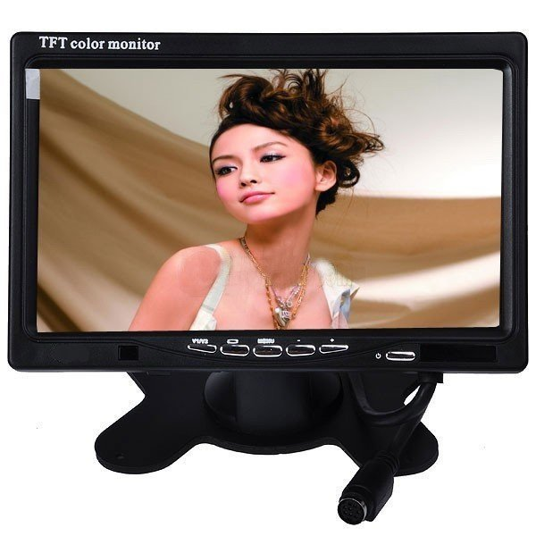 Good quality in Car 7 inch Pillow TFT LCD Color Monitor 2CH Video Input car monitor