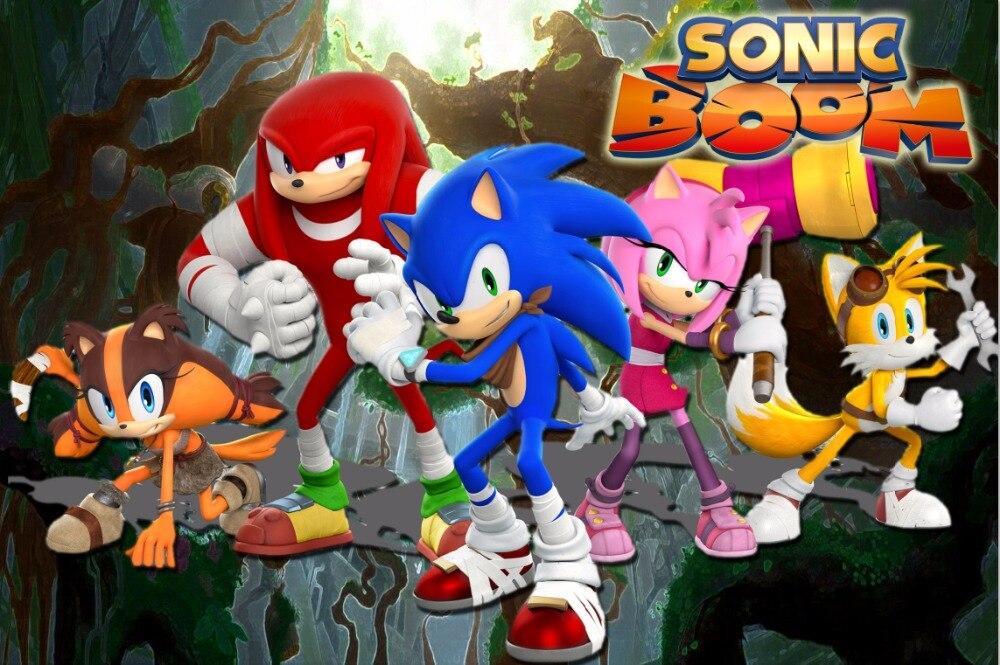 Happy Birthday Sonic Boom Jungles Forest Tree Baby Child
