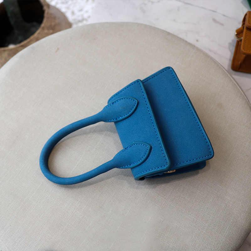 Mini Nubuck Vintage Retro Wanita Dompet Mewah Merek Desain Kecil Messenger Bag untuk Wanita Lady Malam Gadis Tas Selempang tas