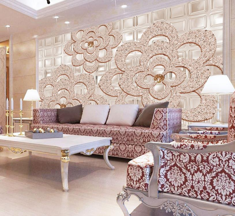 3d bloem behang-koop goedkope 3d bloem behang loten van chinese 3d, Deco ideeën