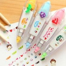 Новое поступление Kawaii животные пресс тип декоративная лента-корректор дневник канцелярские школьные принадлежности