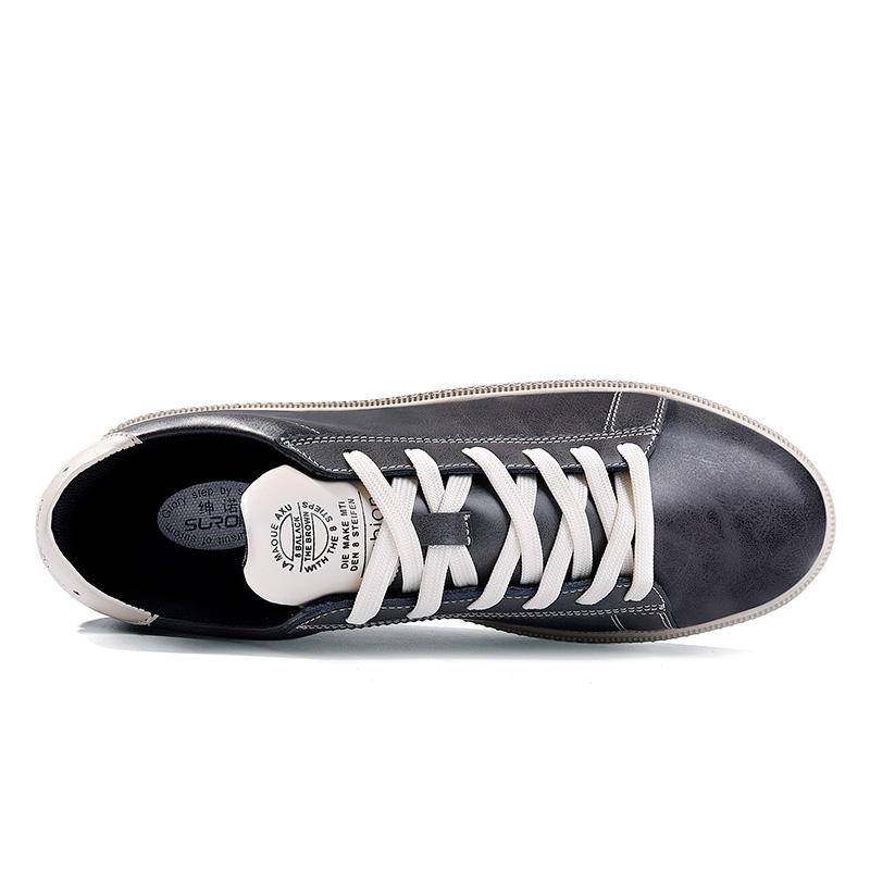 SUROM Mode Chaussures Hommes Lacent En Cuir Casual Chaussures Vente - Chaussures pour hommes - Photo 3