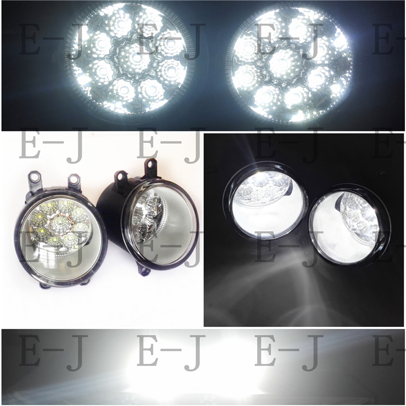 3000-10000K Lights DRL LED For TOYOTA YARIS SCP9 NSP9 KSP9 NCP9 ZSP9 2006-2014 Fog Lamps White/Yellow/Blue 1 SET 81210-0D042 3000 10000k lights drl led for lexus rx gyl1 ggl15 agl10 450h awd 350awd 2008 2013 fog lamps white yellow blue 1 set 81210 0d042