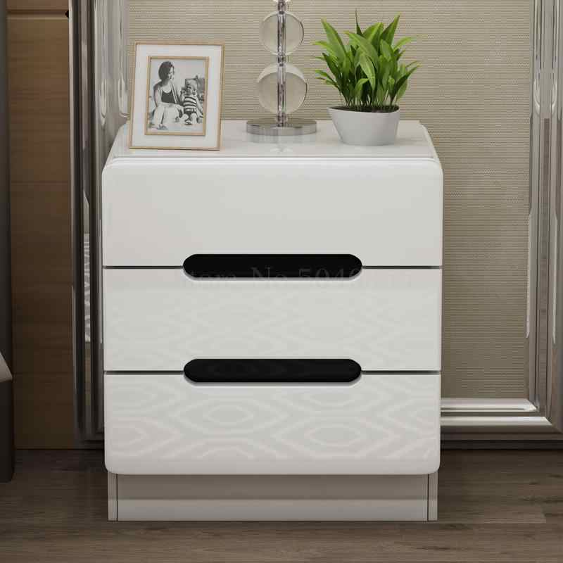Simple modern bedside table simple bedside storage small cabinet special locker Nordic bedroom small bedside cabinet