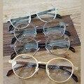 Moda pele de aço Integrada armação dos óculos óculos Homens mulheres espelho simples óculos de armação oculos de grau feminino
