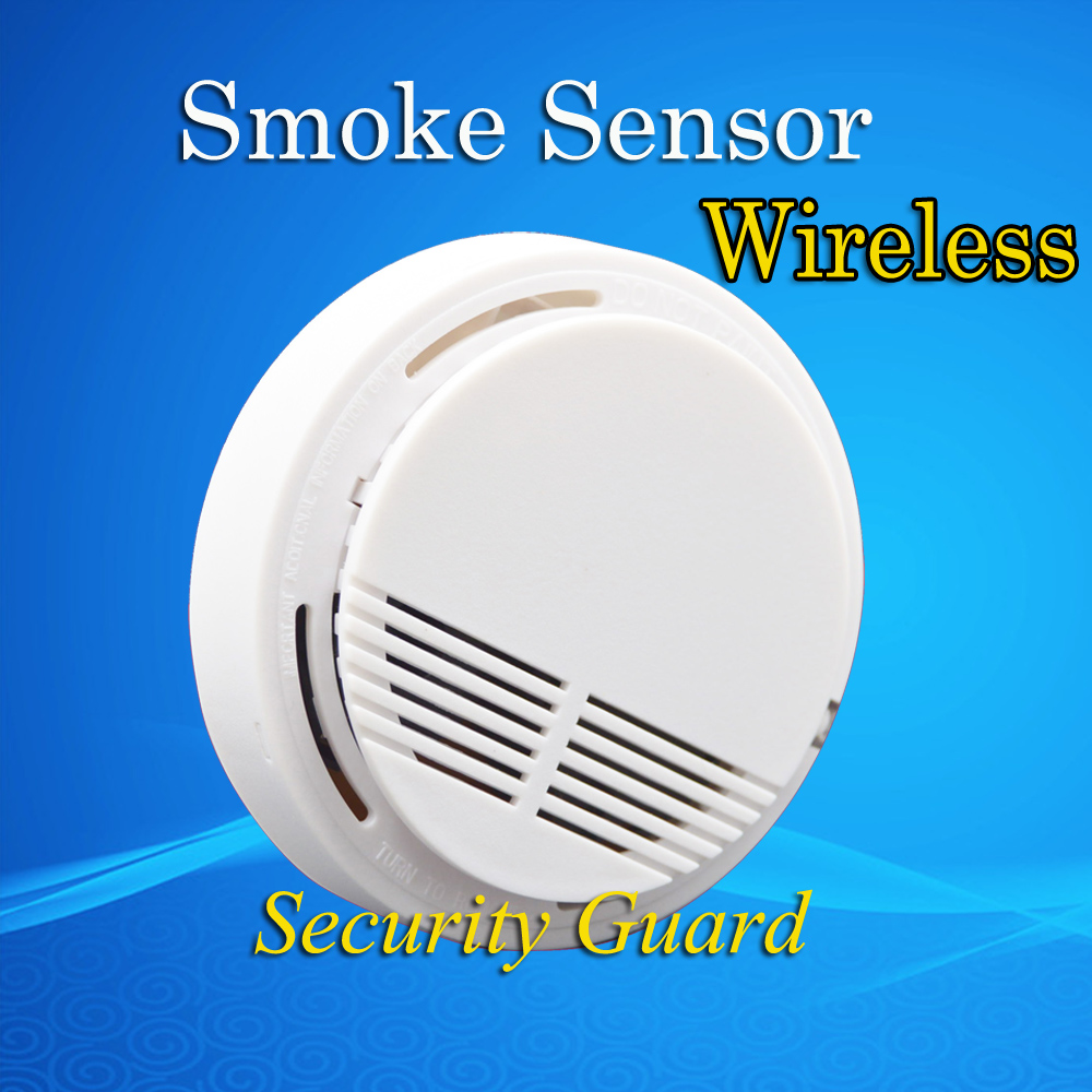 free shipping hot selling wireless smoke detector fire alarm sensor for indoo. Black Bedroom Furniture Sets. Home Design Ideas