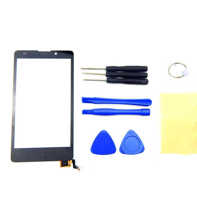 Touch Display For Nokia XL Touch Screen Digitizer Replacement Front Glass Lens With Sensor Flex Cable Original Black Color+Tools