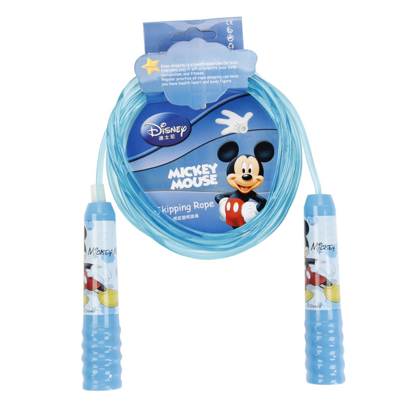DISNEY Mickey Minnie Baby Gym Skipping Rope 8 Feet Plastic Handle Jump Rope Crossfit Fitness Equipment For Kid Boy Girl Gift