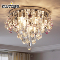 Modern Flower Crystal Ceiling Light For Bedroom Living Room Kitchen Dining Room Ceiling Lamp Romantic Princess