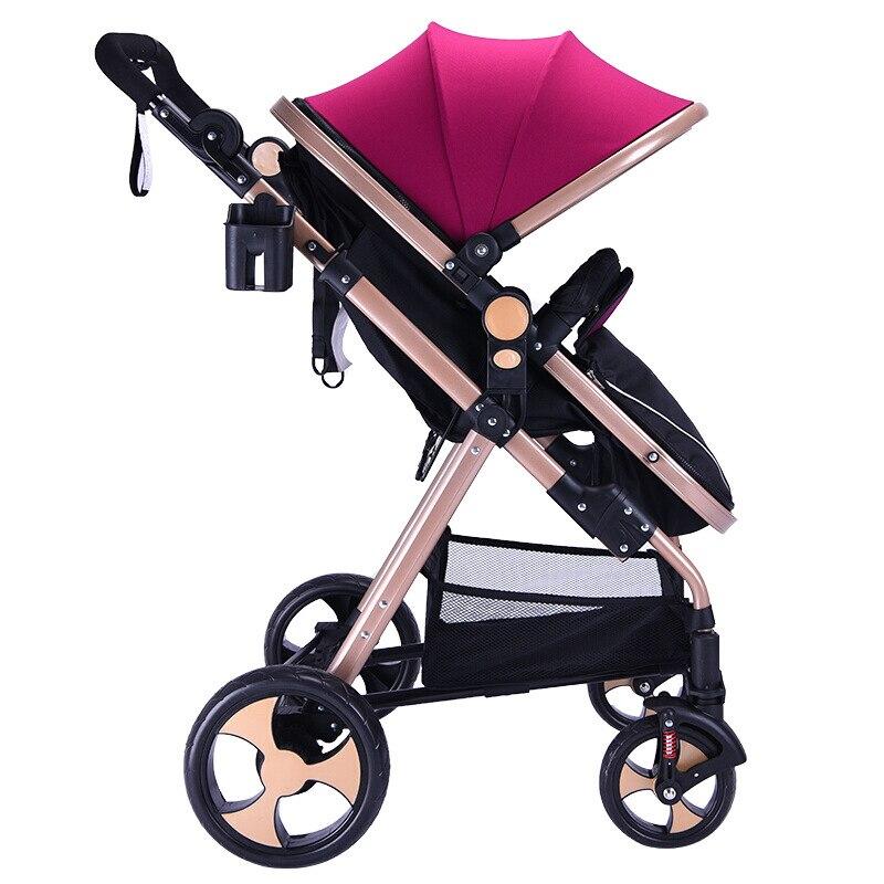 Poussette bébé de luxe réversible Portable haute paysage poussette réversible maman chaude poussette landau Bebek Arabasi Kinderwagen