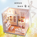DIY Miniature Model Kit Wooden Doll  House Handmade Toys With Furnitures Assembling  Children Adult Beauty Gift For Girl Women
