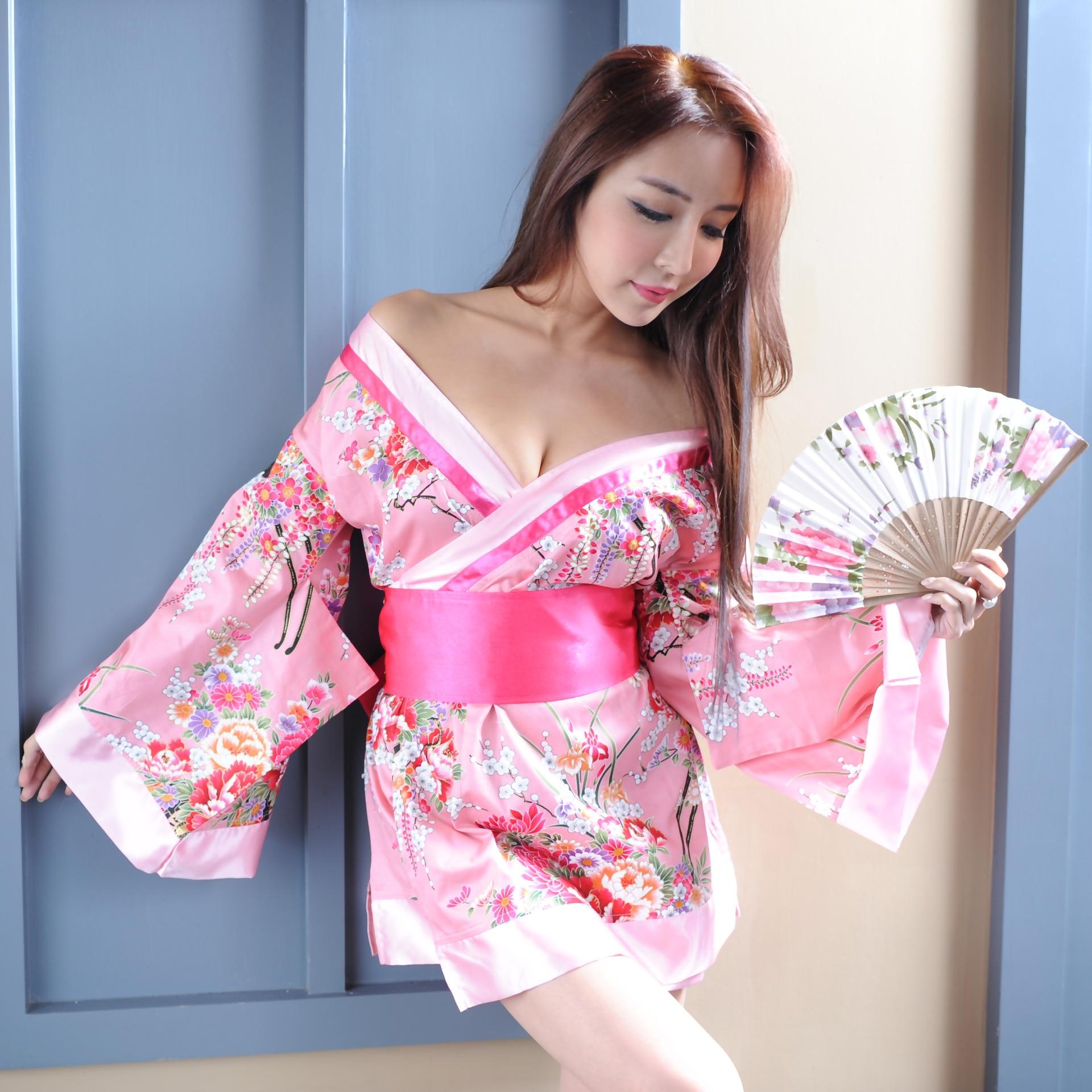 Valentines Day Heart Men's Women's Sexy Short Kimono