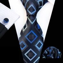 3 шт./компл. 8 см Уникальный конструктор Формальные комплект галстуков личность Геометрическая пледы галстук с карманом Квадратные Запонки