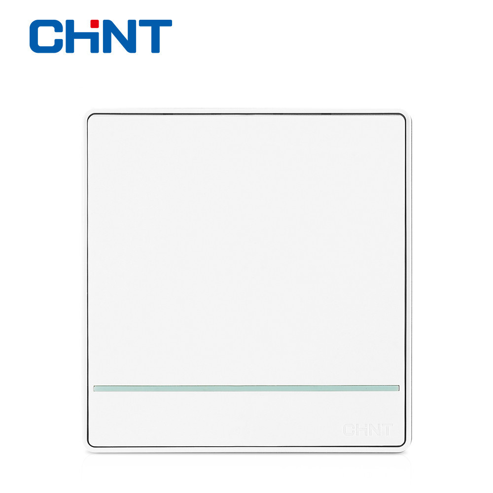 CHINT Electric Double Light Switch Wall Switch NEW2D Panel Switch One Gang  Two Way 16A(