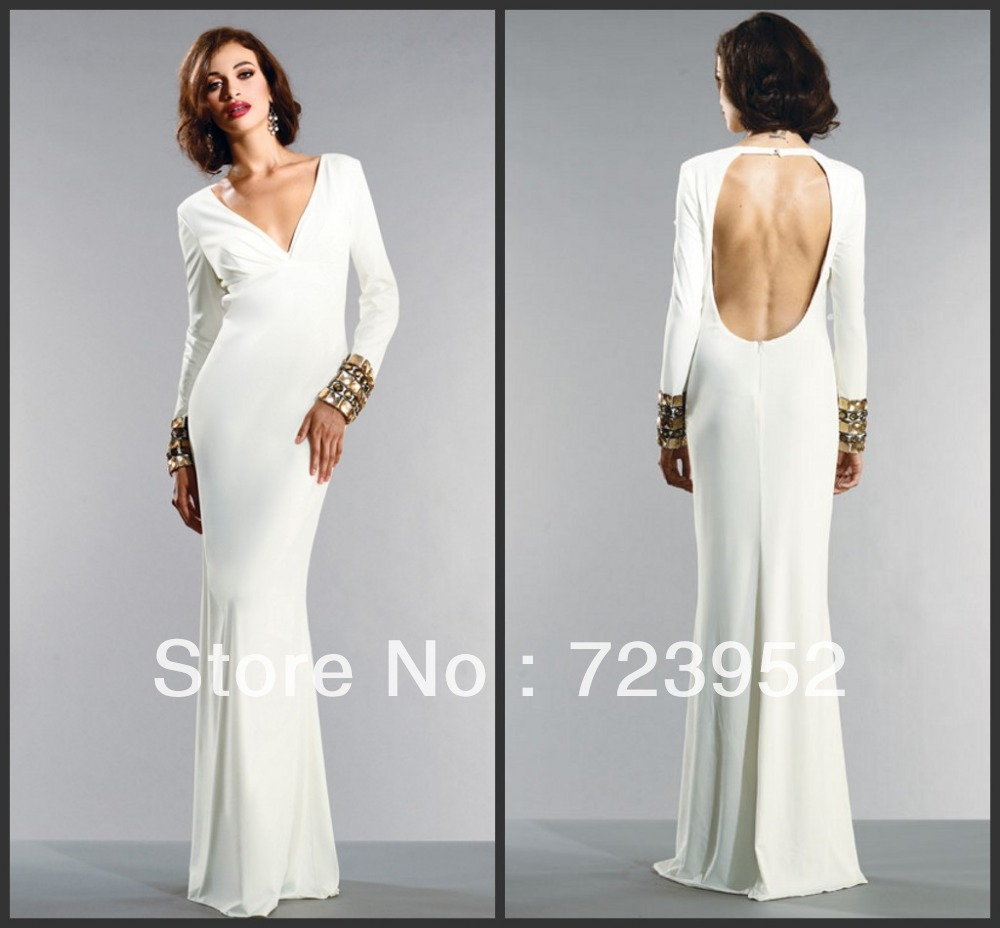 Fitted Floor Length Evening Dresses