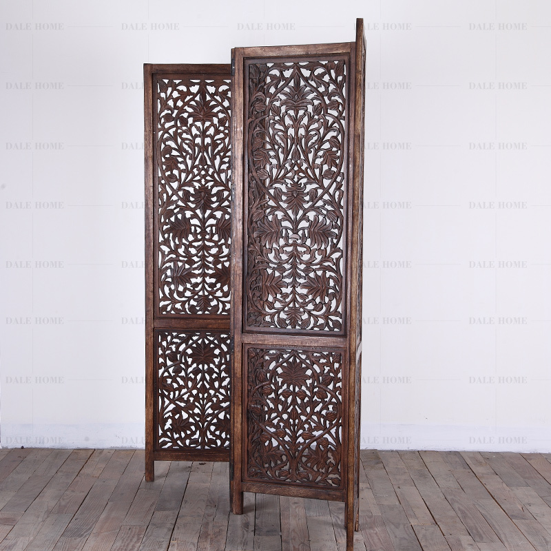 Air India Imported Hand Carved Solid Wood Folding Screen Three Four Partition Wall Living Room In Children Beds From Furniture On Aliexpress