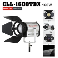 Falconeyes 160W Fresnel LED Light Color Stepless Adjustable Video Light with DMX512 system Continuous lighting CLL 1600TDX