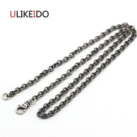 925 Sterling Silver Jewelry Pendant Necklaces Fishion Ch Charm Punk Link Thai Silver Chain For Men And Women Fine Gift 741