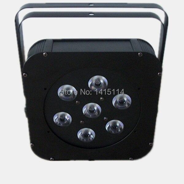 Luz de discoteca preço 7 pcs RGBW led plana par can luz