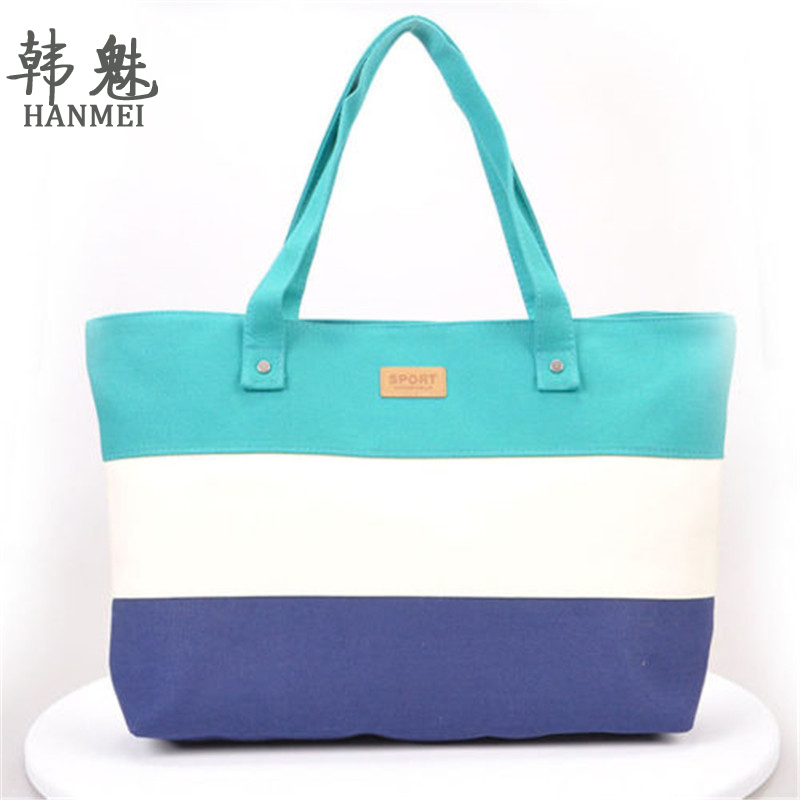 2017 New Messenger Bag Beach Handbag Bags Brand Totes Women Ladies Stripes Canvas Shoulder Bag Top Quality Free Shipping N508
