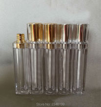 8ML 40pcs/lot Square Shape Lip Gloss Tube with Silver/Gold Cap Lipstick Packaging Bottle, Empty Lip Balm High Quality Container