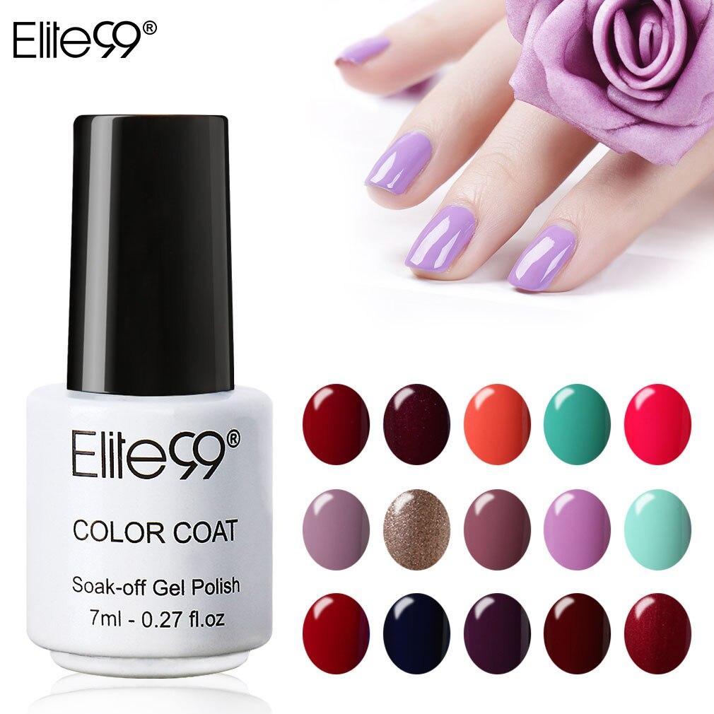Elite99 7ml UV LED Gel Varnish Soak Off Nail Gel Polish Long Lasting Gel Nail Polishes