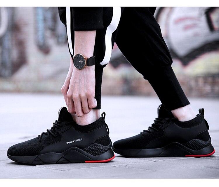 Рабочая защитная обувь для мужчин со стальным носком; Повседневные Дышащие уличные кроссовки; непромокаемые ботинки; удобные промышленные ботинки для мужчин