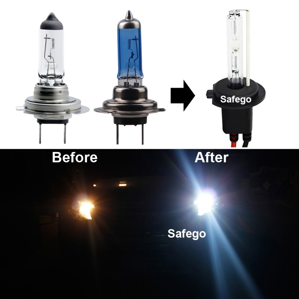 Image 3 - Safego AC 12V 35w car hid xenon headlight bulbs repacement H1 H3 H4 h7 H8 H9 H11 9005 9006 HB3 HB4 9004 7 6000k auto lights lamp-in Car Headlight Bulbs(Xenon) from Automobiles & Motorcycles
