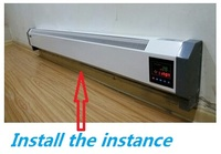 DJR 2000W 2 2000W Free Shipping Infrared Heater Household Electric Heater Wall Warm Convector Heater Remote