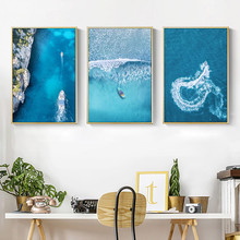 Gohipang Scandinavian Style Landscape Art Canvas Painting Sea Art Wall Pictures For Living Room Acrylic Paints Decoration Home