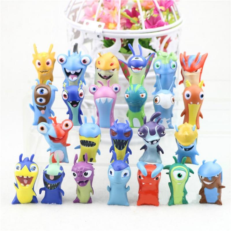 24Pcs/Set Model Toy Slugterra Mini Action Figure Decoration Toys Anime Cartoon Miniature Landscape Toys New Year Chrismas Gift