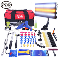 PDR Tools Auto Repair Kit Tool To Remove Dents Paintless Dent Repair Puller Kit Slide Hammer PDR Light Suction Cup For Car Dents