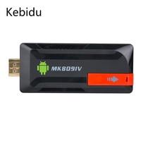 Kebidu Android TV Vara 2 GB 8 GB Adaptador Receptor Sem Fio Bluetooth Android TV Box Sem Fio Mini PC Quad Core RK3188T
