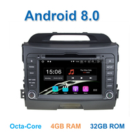 4GB RAM 1024*600 Android 8.0 Car DVD for Kia Sportage 2010 2015 with Radio RDS Video GPS BT WiFi